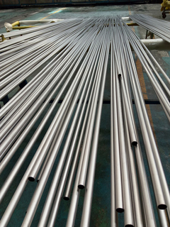 High quality Titanium Gr.5 tubes ASTM B338 Manufacturer from China.